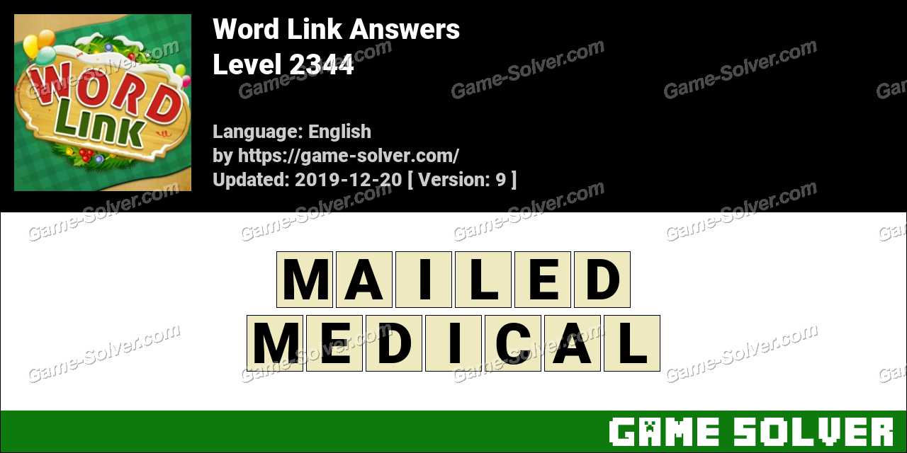 Word Link Level 2344 Answers