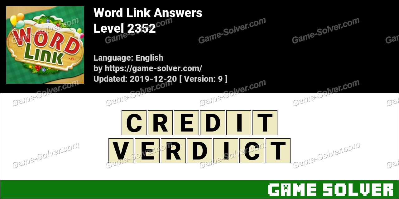Word Link Level 2352 Answers