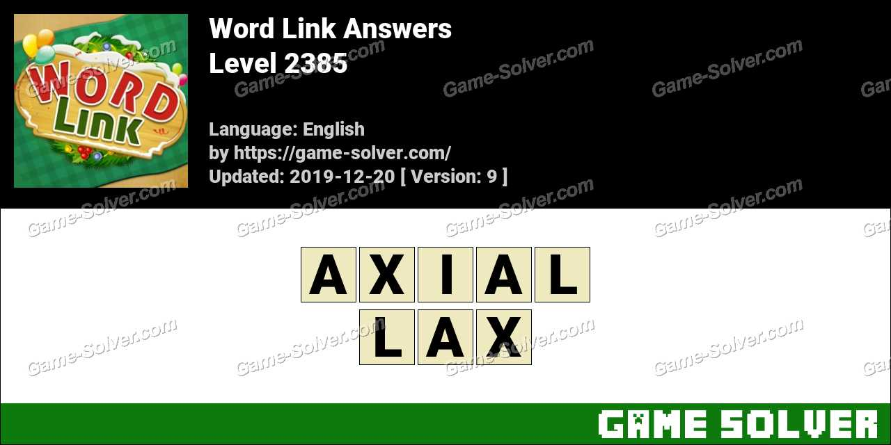 Word Link Level 2385 Answers