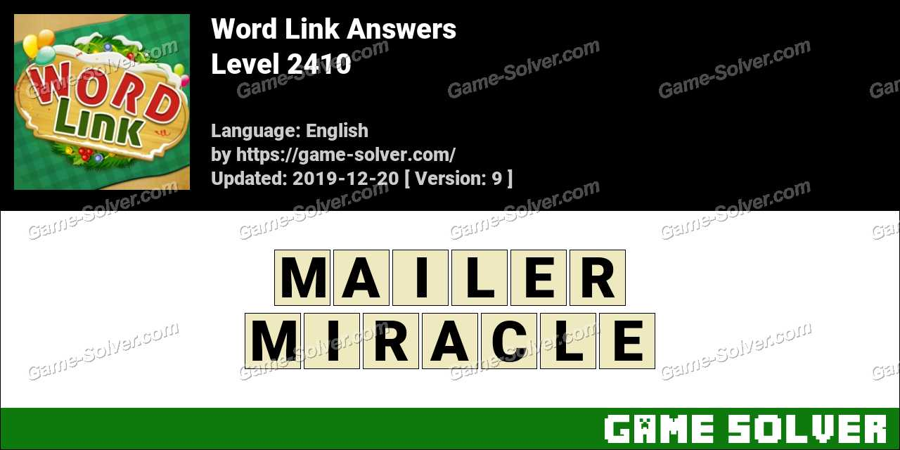 Word Link Level 2410 Answers