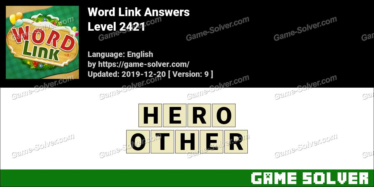 Word Link Level 2421 Answers