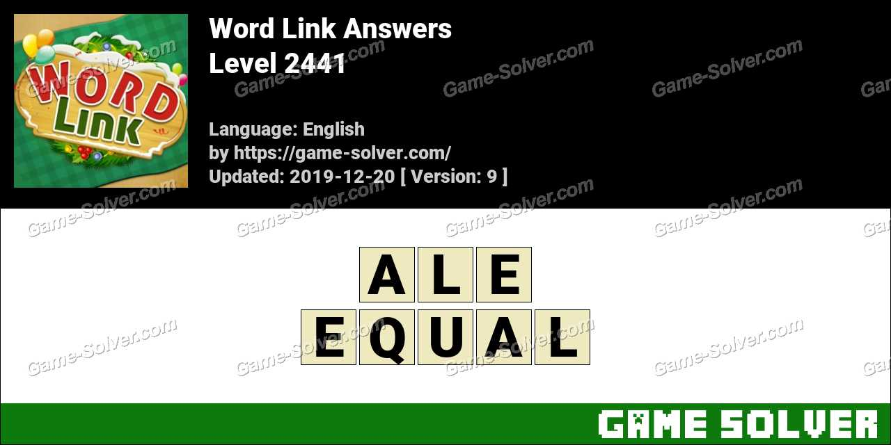 Word Link Level 2441 Answers