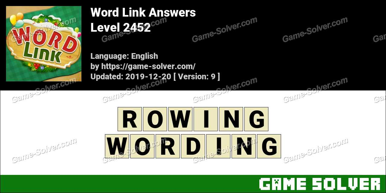 Word Link Level 2452 Answers