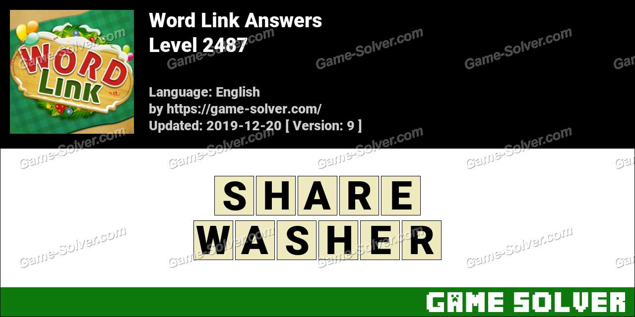 Word Link Level 2487 Answers