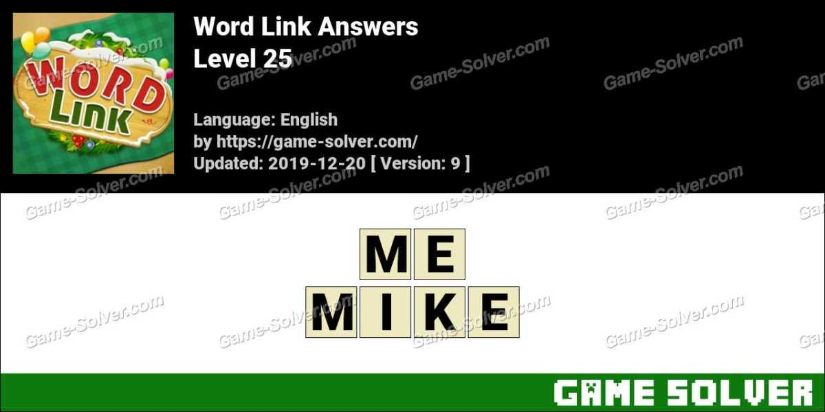 Word Link Level 25 Answers