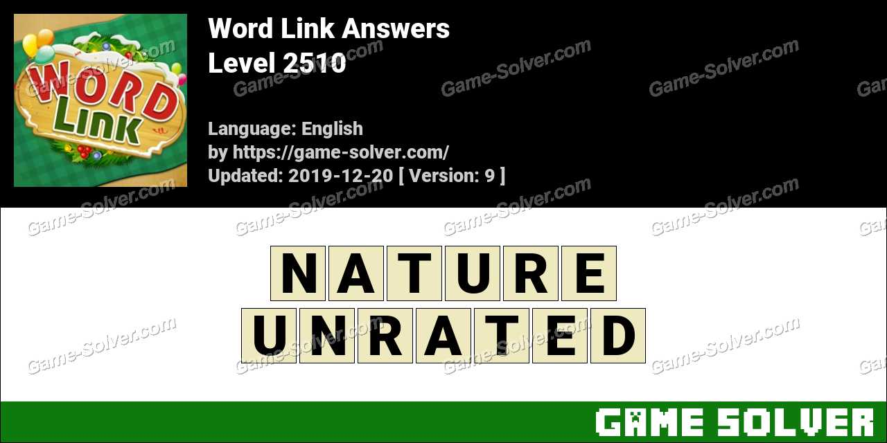 Word Link Level 2510 Answers