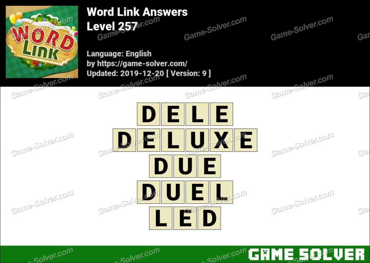 Word Link Level 257 Answers
