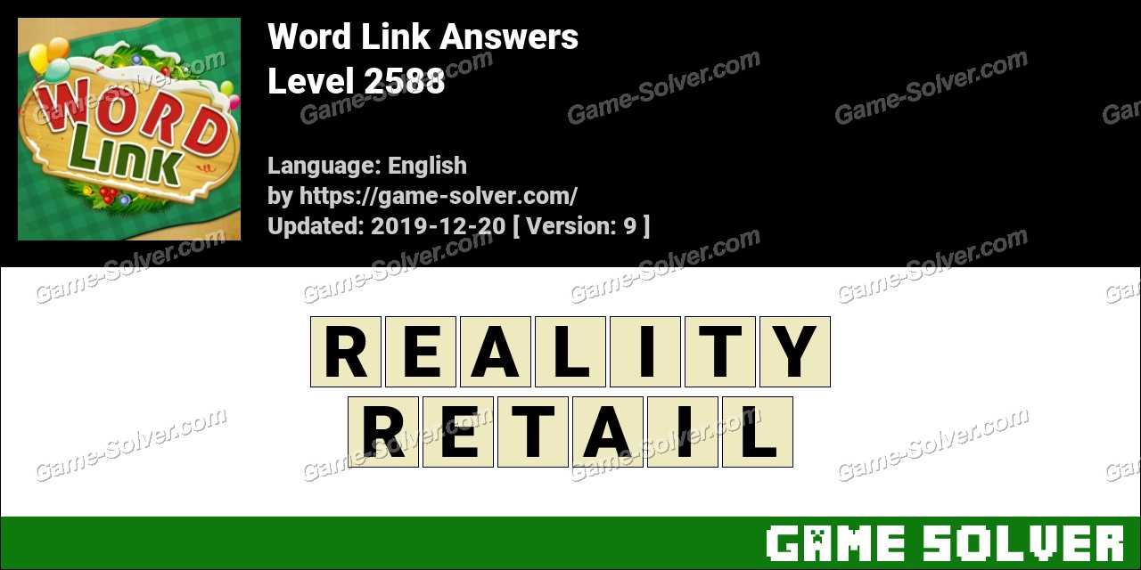 Word Link Level 2588 Answers