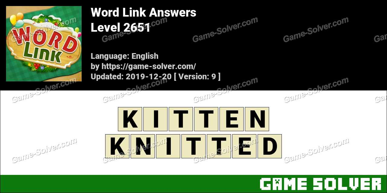 Word Link Level 2651 Answers