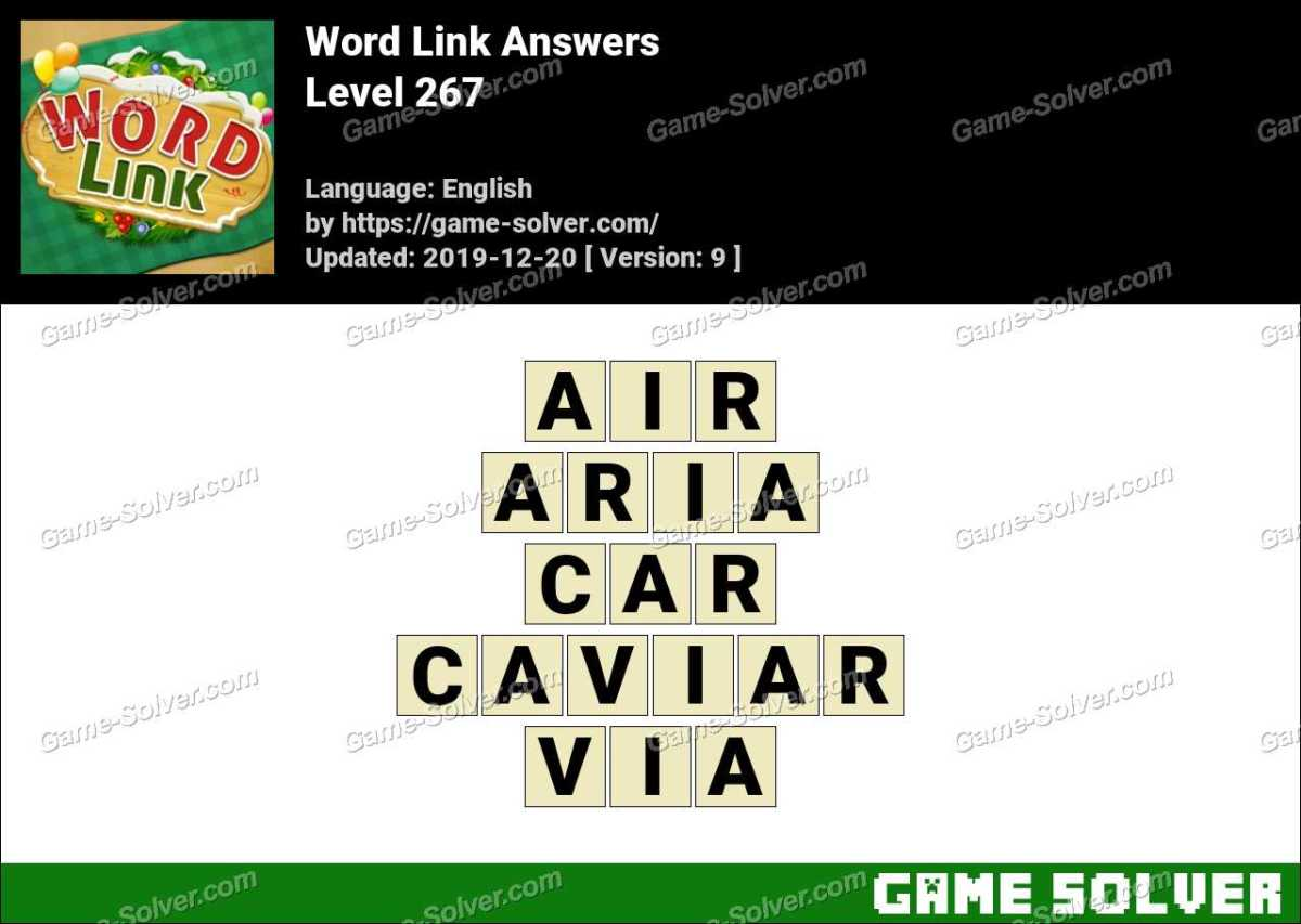 Word Link Level 267 Answers