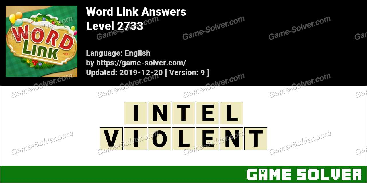 Word Link Level 2733 Answers