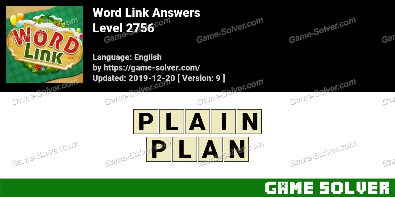 Word Link Level 2756 Answers