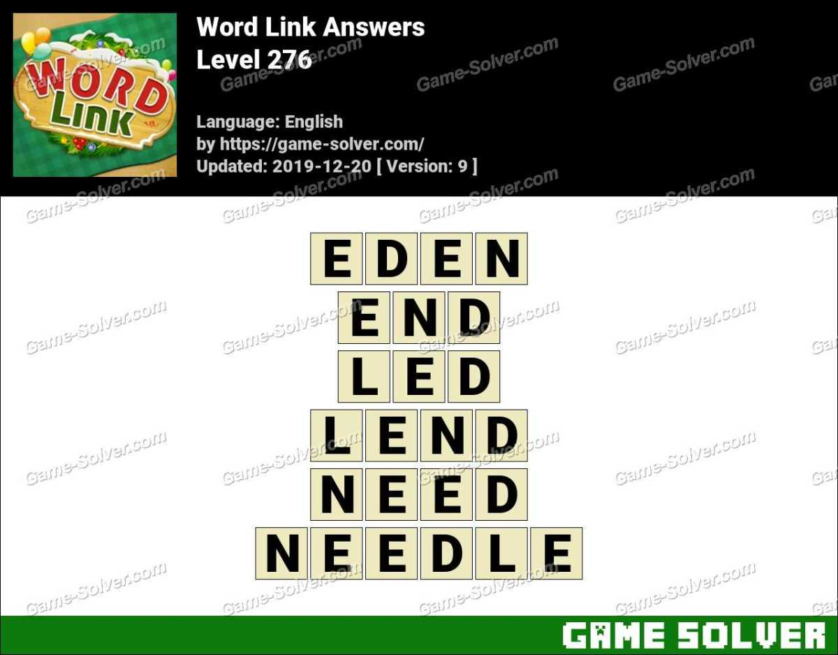 Word Link Level 276 Answers