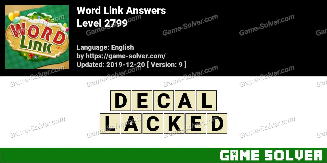 Word Link Level 2799 Answers