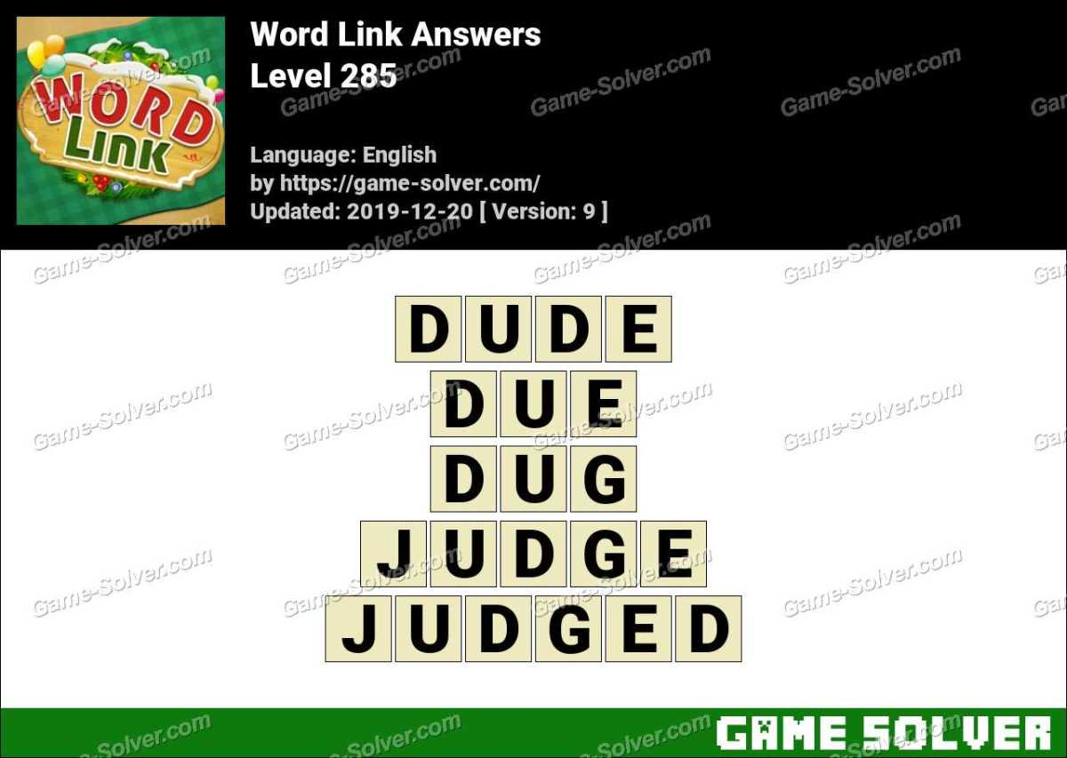 Word Link Level 285 Answers