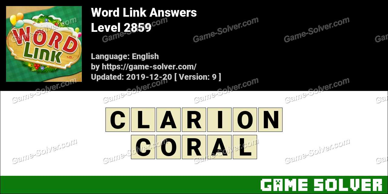 Word Link Level 2859 Answers