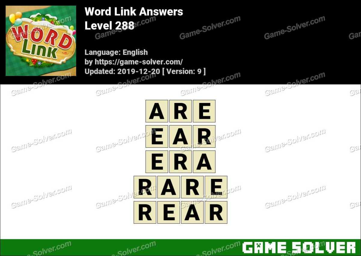Word Link Level 288 Answers