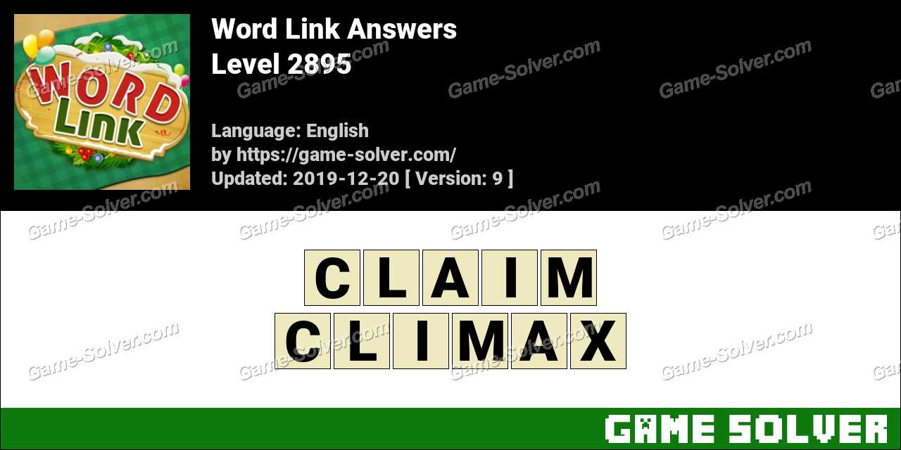 Word Link Level 2895 Answers