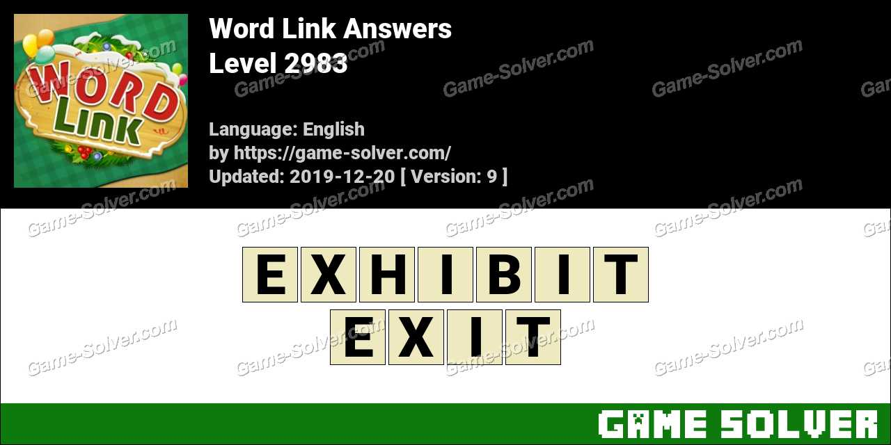 Word Link Level 2983 Answers