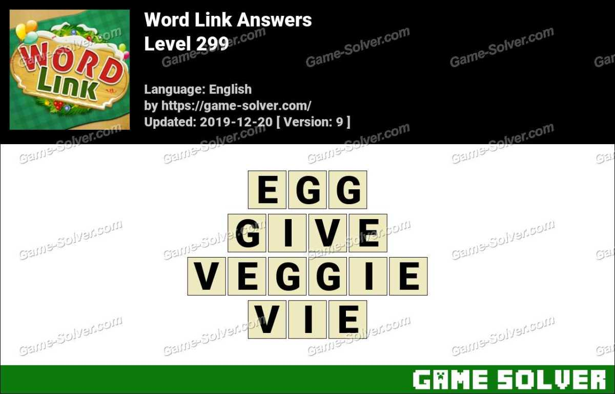 Word Link Level 299 Answers