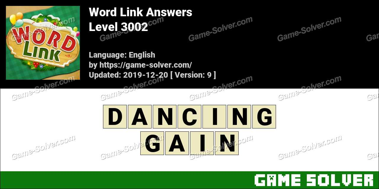 Word Link Level 3002 Answers
