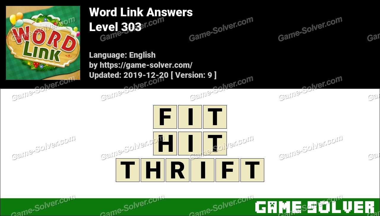 Word Link Level 303 Answers