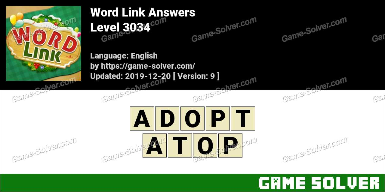 Word Link Level 3034 Answers