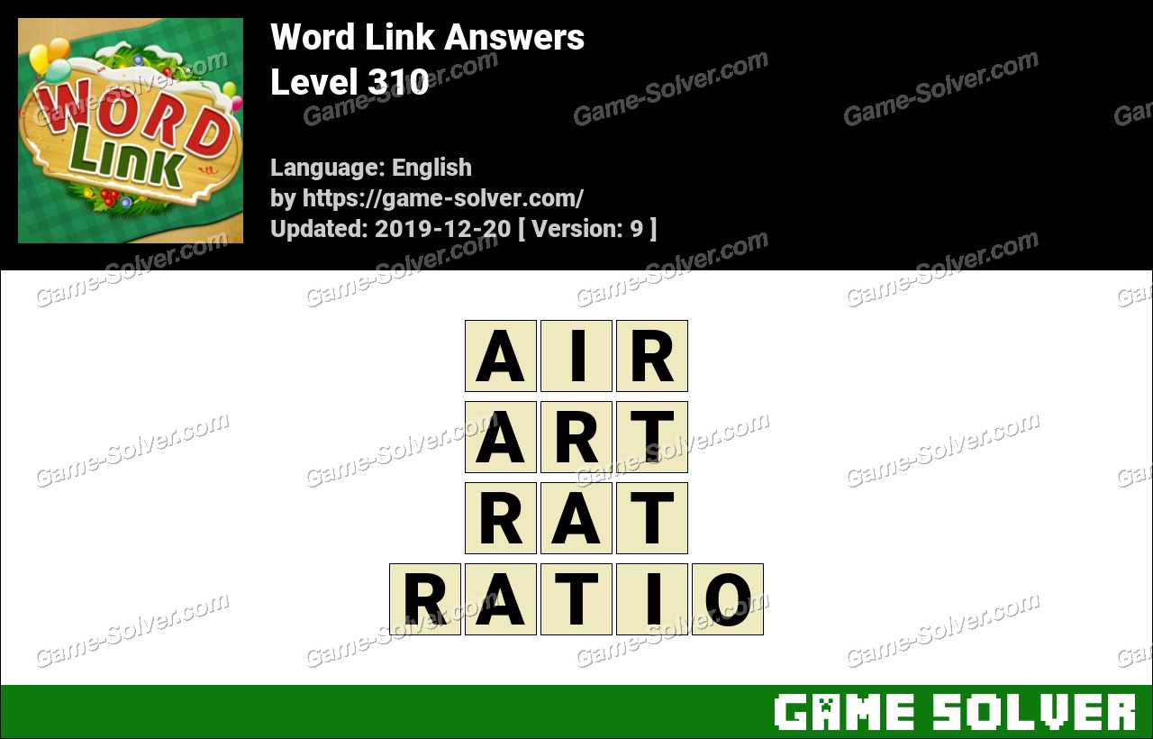 Word Link Level 310 Answers