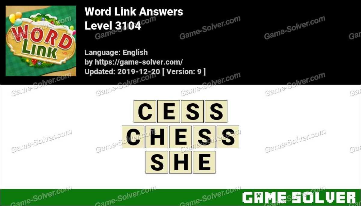 Word Link Level 3104 Answers