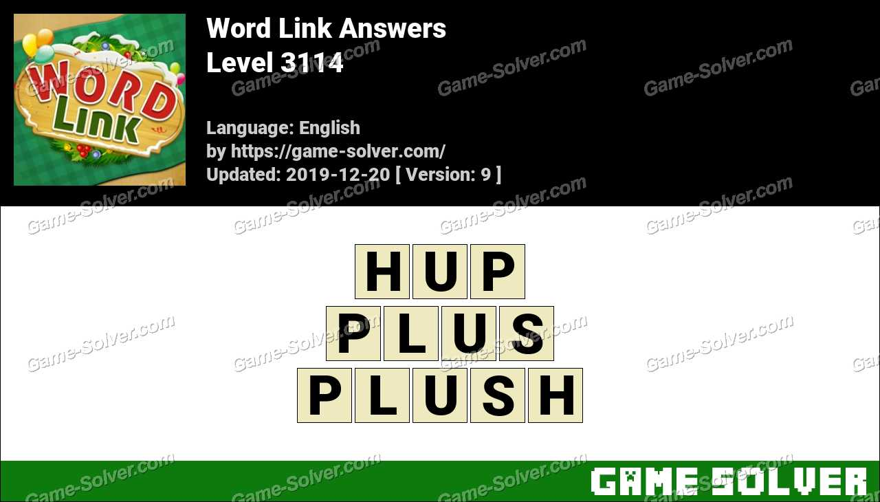 Word Link Level 3114 Answers