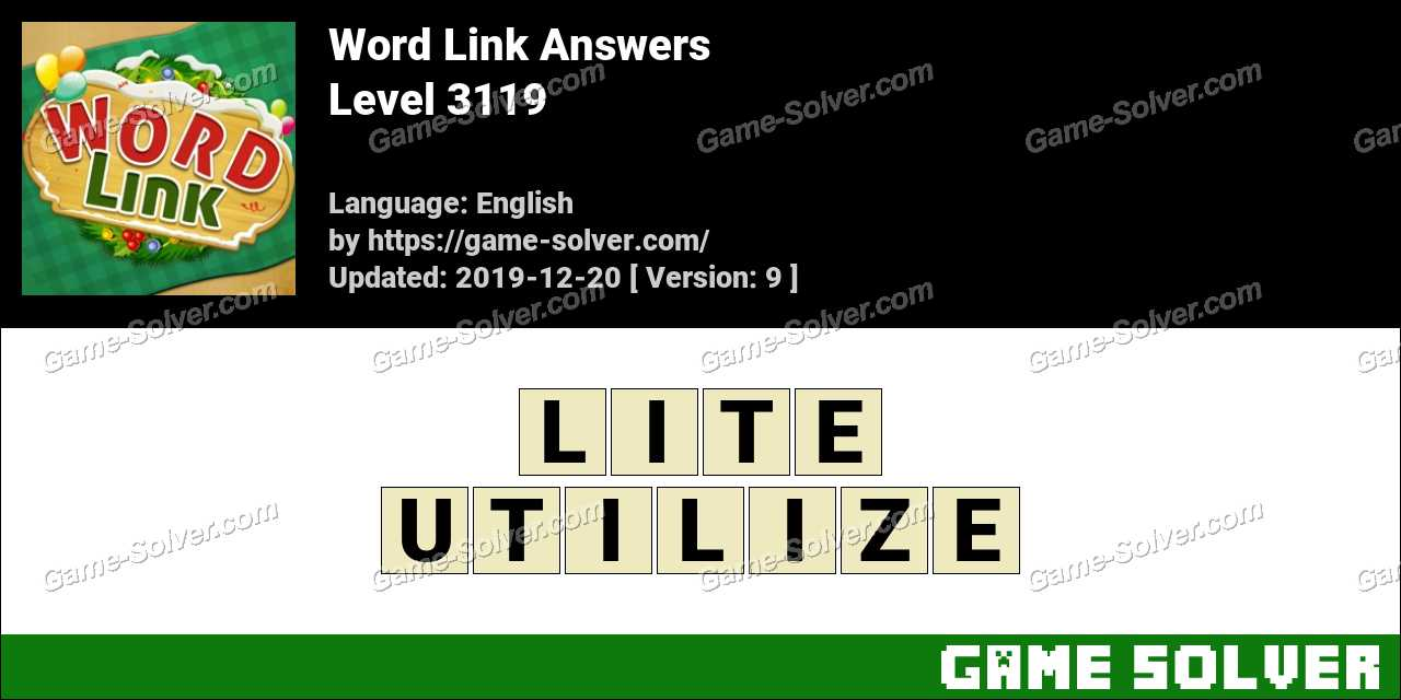 Word Link Level 3119 Answers