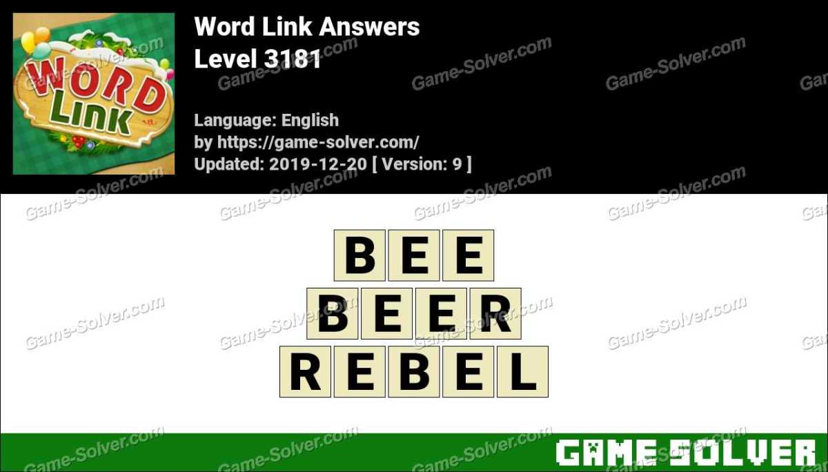 Word Link Level 3181 Answers