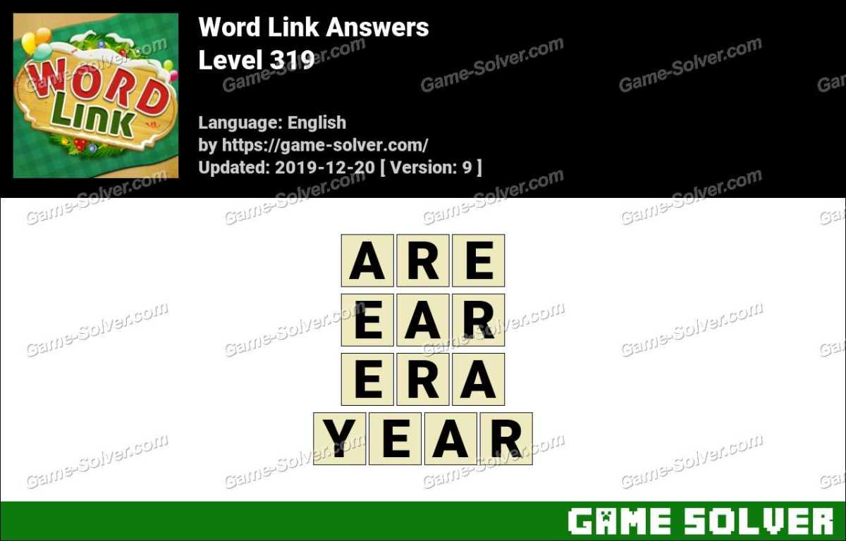 Word Link Level 319 Answers