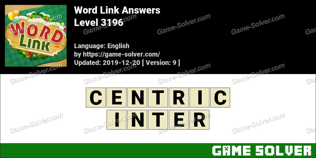 Word Link Level 3196 Answers