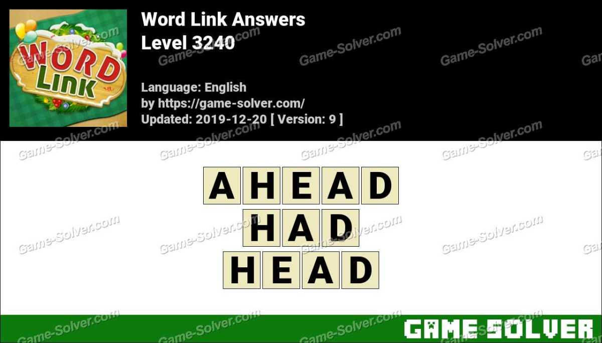 Word Link Level 3240 Answers
