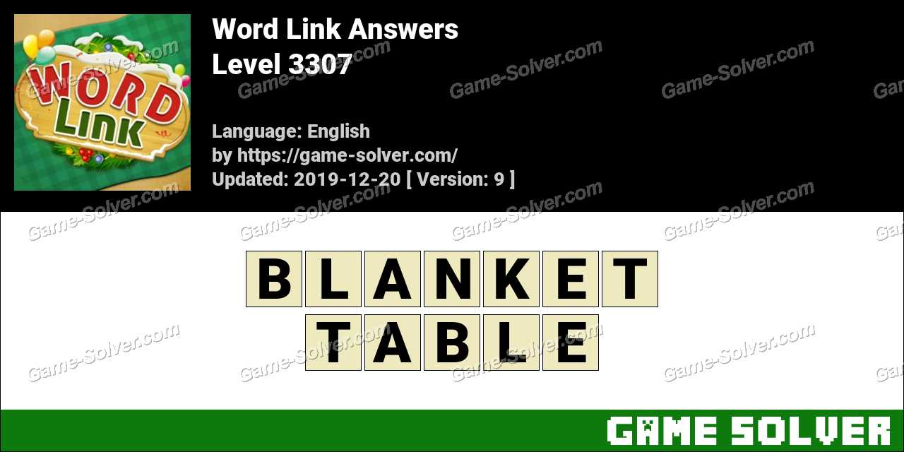 Word Link Level 3307 Answers