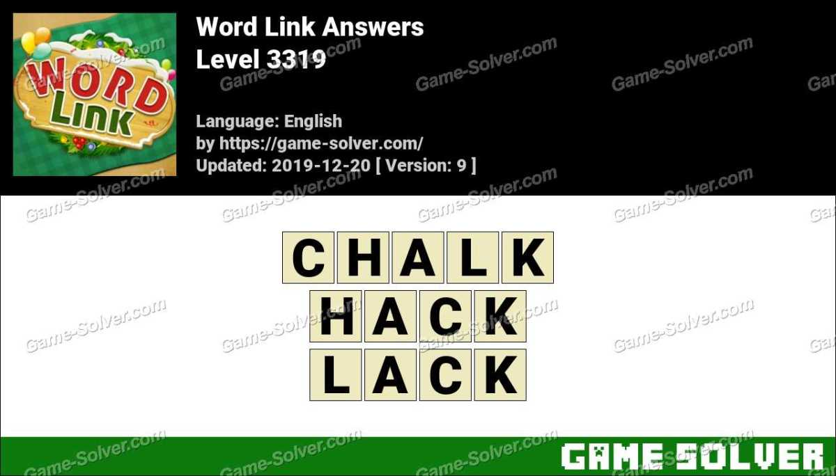 Word Link Level 3319 Answers