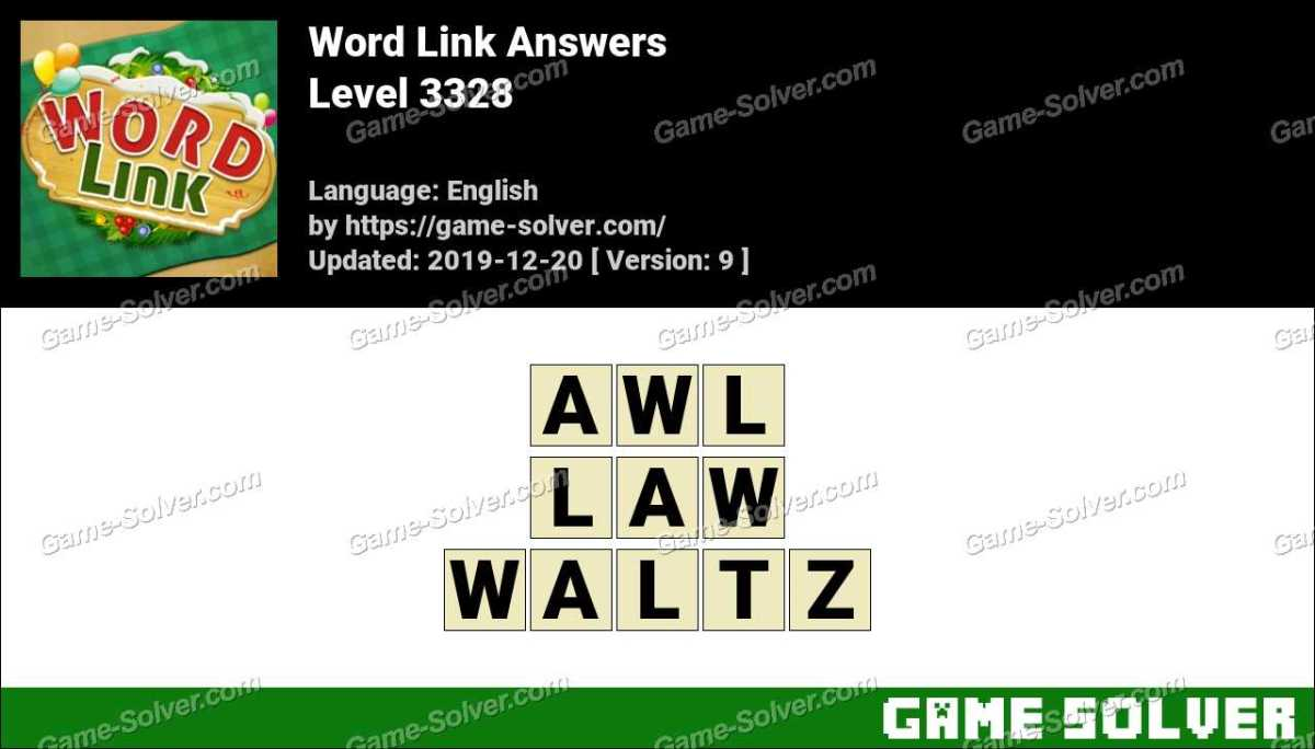 Word Link Level 3328 Answers
