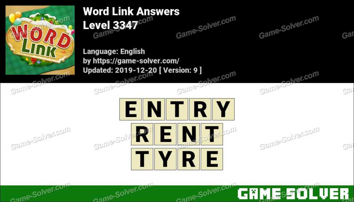 Word Link Level 3347 Answers