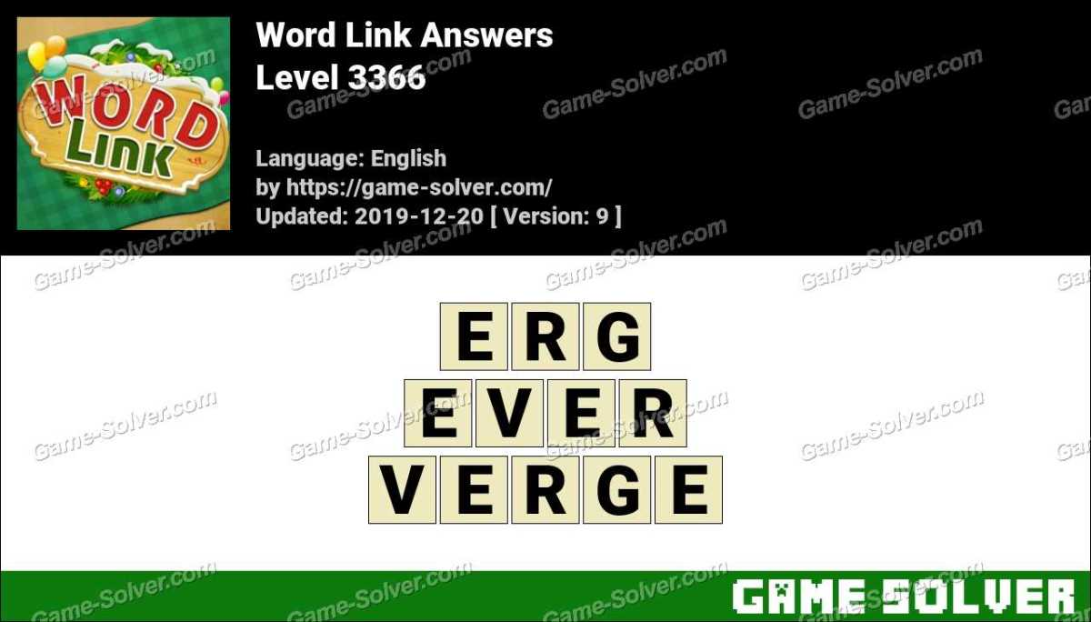 Word Link Level 3366 Answers