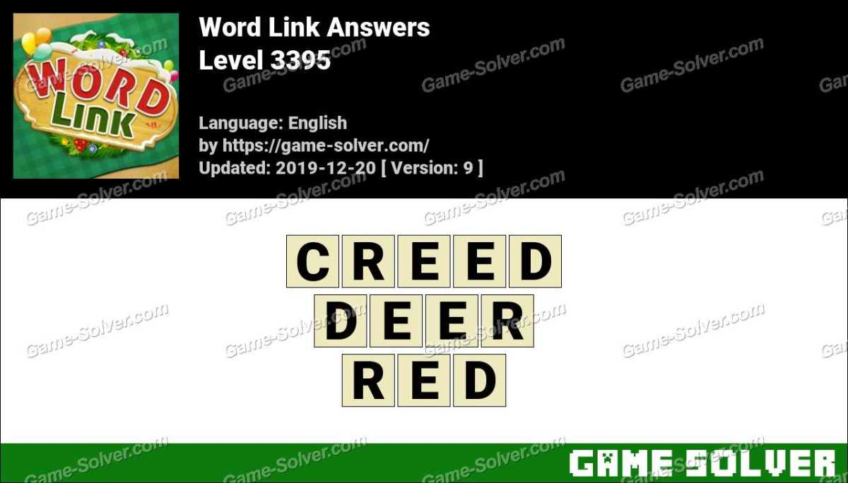 Word Link Level 3395 Answers