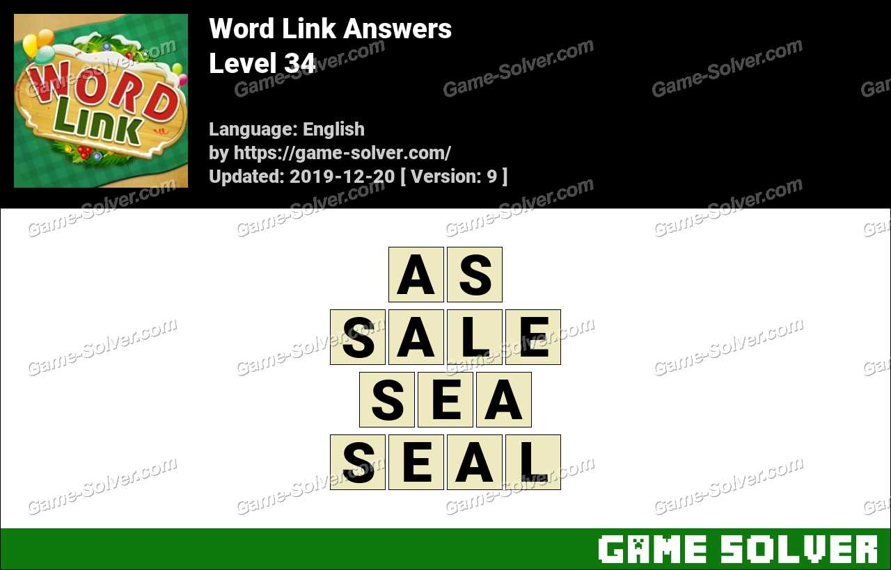 Word Link Level 34 Answers