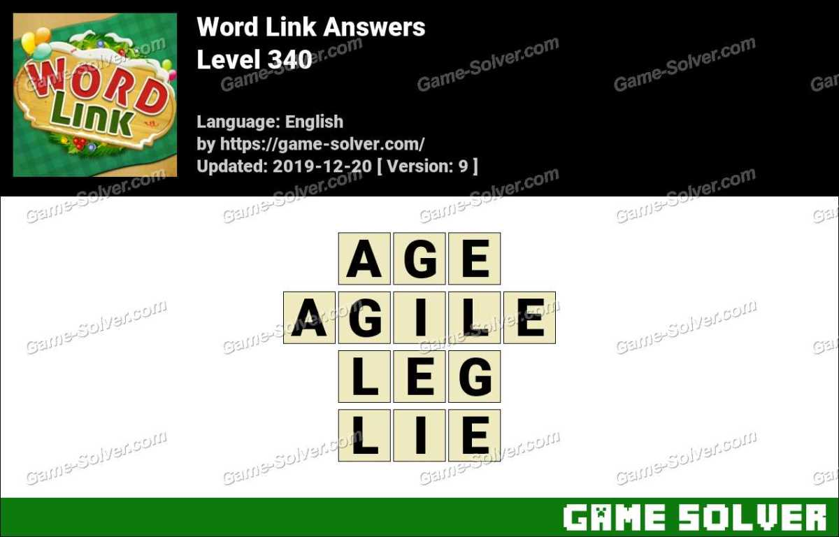 Word Link Level 340 Answers