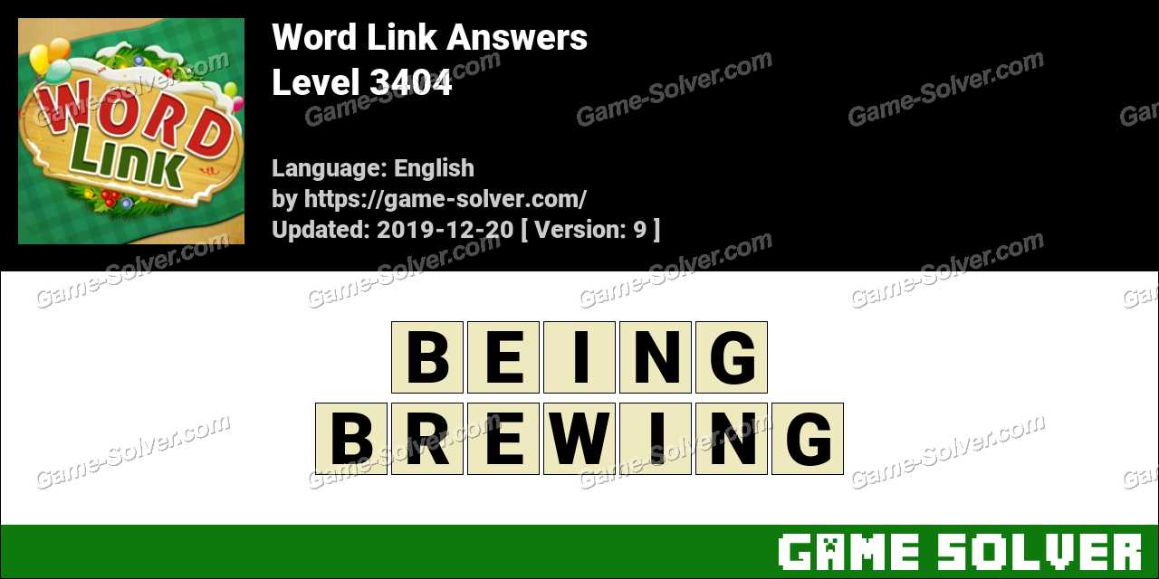 Word Link Level 3404 Answers
