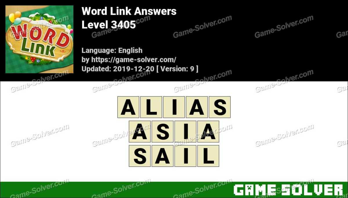 Word Link Level 3405 Answers
