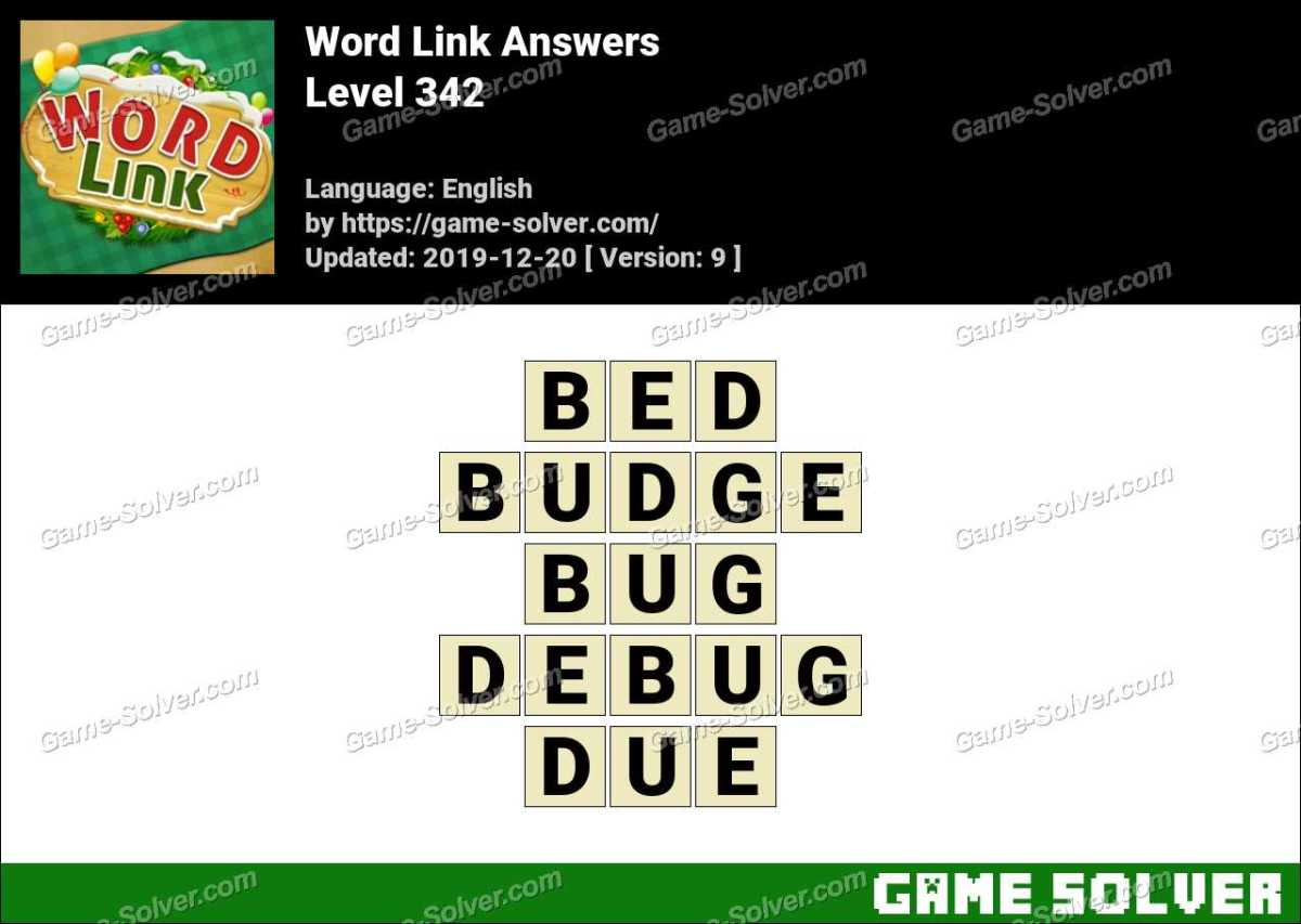 Word Link Level 342 Answers