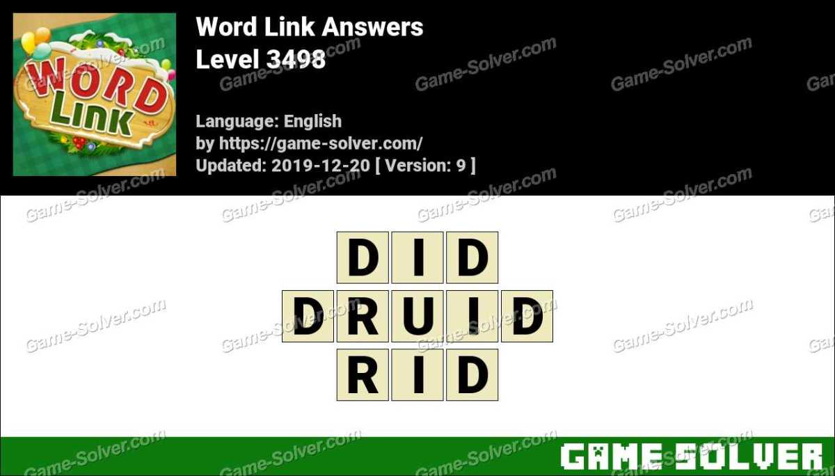 Word Link Level 3498 Answers