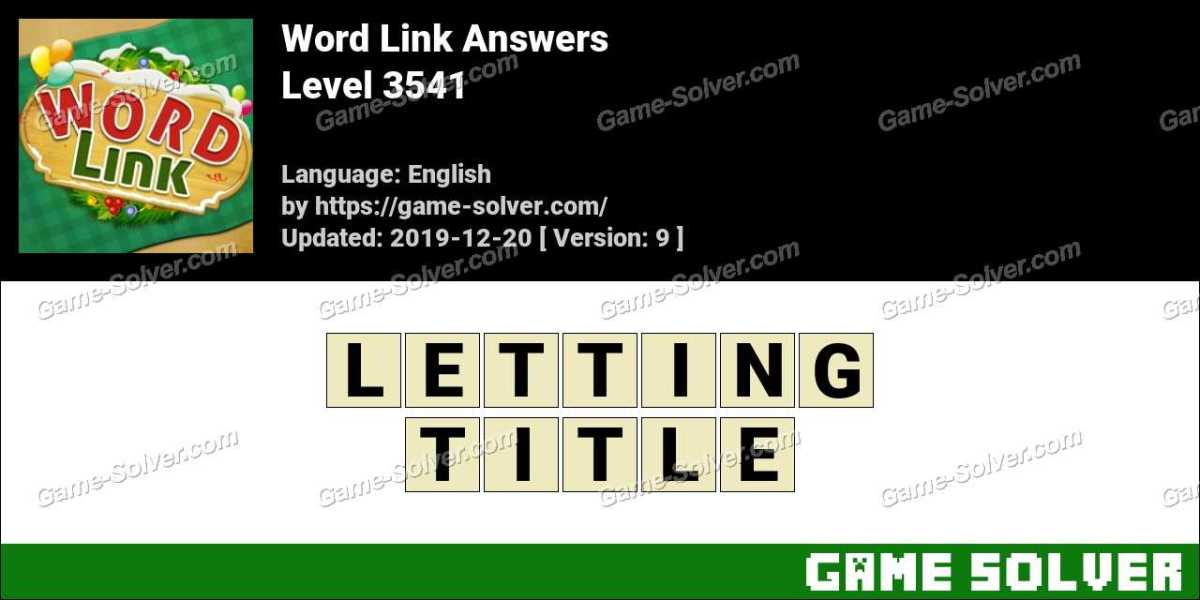 Word Link Level 3541 Answers