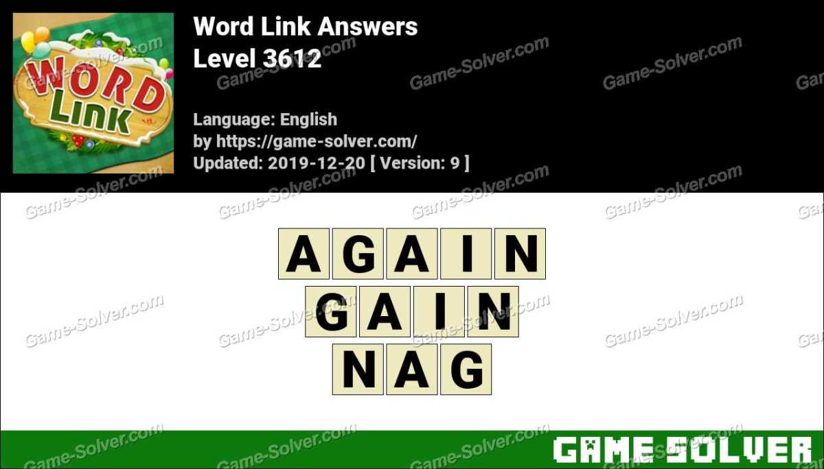 Word Link Level 3612 Answers