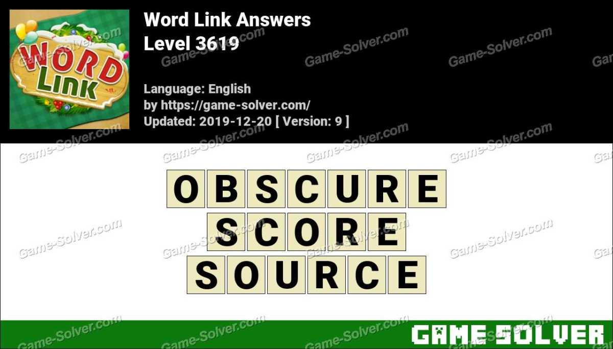 Word Link Level 3619 Answers
